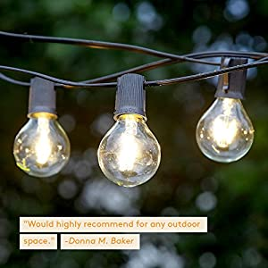 Brightech ambience pro outdoor globe light strand with g40 led bulbs brightech ambience pro outdoor globe light strand with g40 led bulbs 26 ft durable weatherproof vintage aloadofball Choice Image