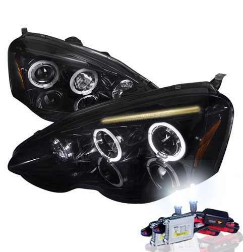 Sold in Pairs Anzo USA 121004 Acura Integra Projector with Halo Chrome Headlight Assembly