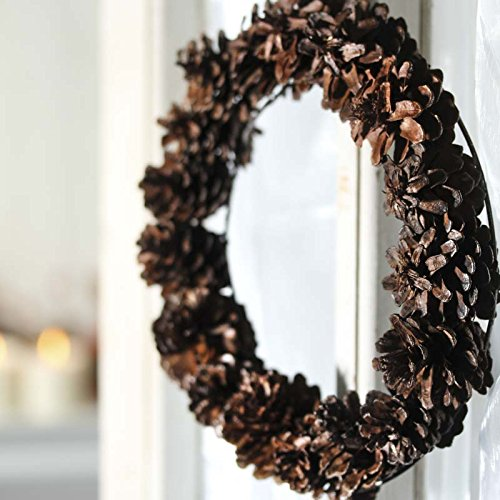 Factory Direct Craft® Group of 4 Natural Pinecone Wreath for Home Decor, Crafting and Displaying