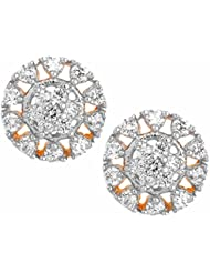 The Jewelbox Daily Wear Flower 18K Gold Plated American Diamond Stud Earring For Women