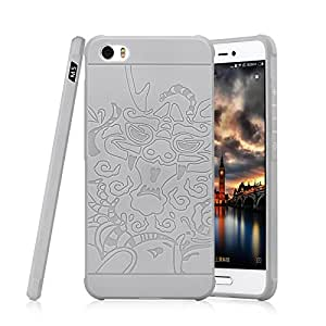 Cocose Shock proof Matte Dragon Pattern Back Case Cover for Xiaomi Mi5 - Grey