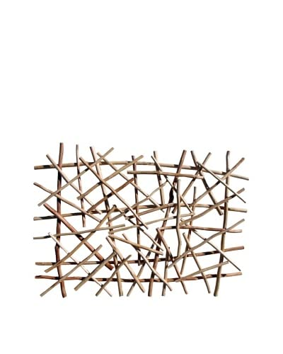 Asian Art Imports Stick Wall Art Natural Color, Natural Wood