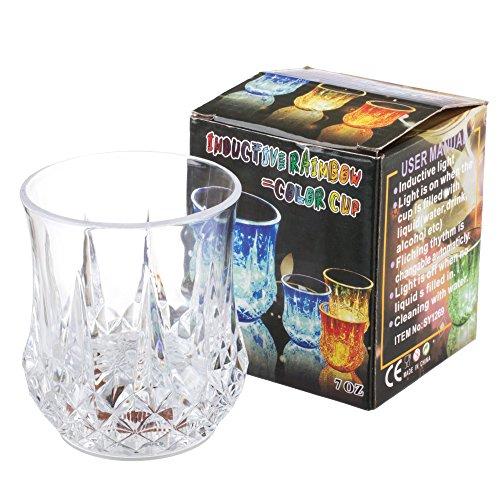 Lilware Dare to Be Visible Inductif Parti Tasse. Coupe Avec Lumière Colorée LED et Liquide Activé Capteur. Multicolore