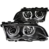 FRONT HEADLIGHT BMW 318IS, BMW 323CI, BMW 323IS, BMW 325CI, BMW 328CI, BMW 328IS, BMW 330CI 3 SERIES E46 1901 2DR PROJECTOR HALO BLACK CLEAR