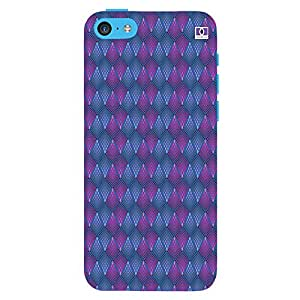 Pink & Blue Design - Mobile Back Case Cover For Apple Iphone 5C