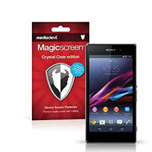 MediaDevil Sony Xperia Z1 Screen Protector: Magicscreen Crystal Clear (Invisible) Edition - (2 x Protectors)