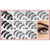 "REDline 100 Pairs Fake Eyelash / False Eyelashes ""Beauty Queen"" Bundle - 10 Different Styles"