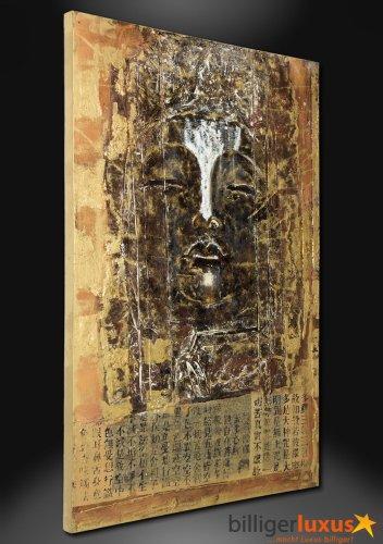 Original Ölgemälde Leinwand Buddha Gemälde 150×100 cm Wandbild Buddha 3D Optik