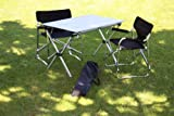 Table in a Bag LT4327GA Large Tall Aluminum Portable Table With Carrying Bag, Grey