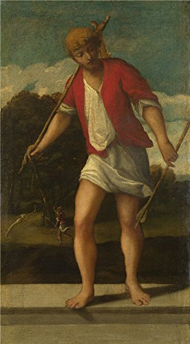 canvas-prints-of-oil-painting-a-huntsman-16th-century-studio-of-bonifazio-di-pitati-16-x-29-inch-41-