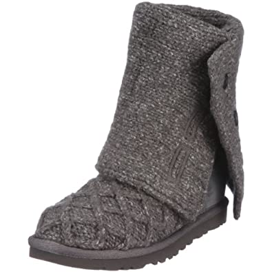 UGG Australia Women's Lattice Cardy Boots Charcoal Size 7