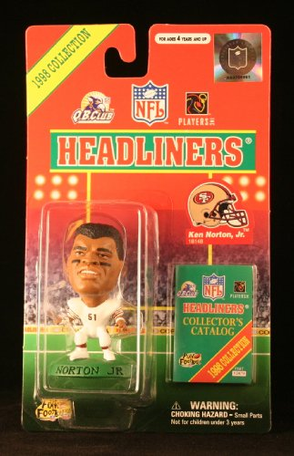 KEN NORTON JR. / SAN FRANCISCO 49ERS * 3 INCH * 1998 NFL Headliners Football Collector Figure