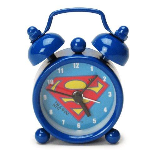 ミニミニアラームクロック 【目覚まし時計】 ブルー SUPERMAN スーパーマン 【ORSM】
