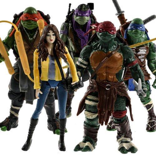 5pcs TMNT Teenage Mutant Ninja Turtles APRIL O'NEIL Action Figure Collection