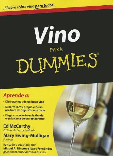 Vino para dummies (For Dummies) (Spanish Edition)