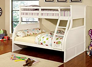 Furniture of America Brenna Twin-Full Bunk Bed, White