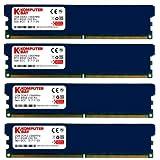 KOMPUTERBAY 8GB (4X 2GB) DDR2 PC2-8500 1066MHZ DIMM 8 GB - comes with Heat Spreaders ( 5-7-7-25 at 1.8V) (Tamaño: 8 Gb)