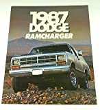 1987 87 DODGE RAMCHARGER Truck BROCHURE AD150 AW150