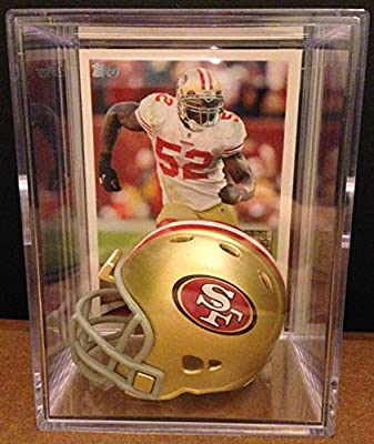 San Francisco 49ers NFL Helmet Shadowbox w/ Patrick Willis card