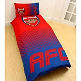 Arsenal FC Fade Single Duvet Cover and Pillowcase Set