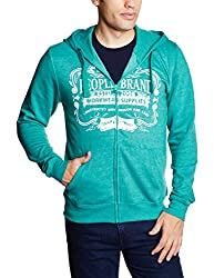 People Men's Cotton Sweatshirt (8903880792480_P10101358028438_Medium_Green)
