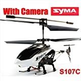 SYMA S107C 3CH GYRO 3.5 Channel Remote Control RC Helicopter with Camera SPY RTF