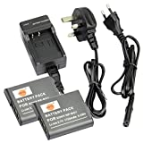 DSTE® 2pcs NP-BG1 Rechargeable Li-ion Battery + Charger DC02U for Sony NP-BG1, NP-FG1 and Sony Cyber-shot DSC-H3, DSC-H7, DSC-H9, DSC-H10, DSC-H20, DSC-H50, DSC-H55, DSC-H70, DSC-H90, DSC-HX5V, DSC-HX7V, DSC-HX9V, DSC-HX10V, DSC-HX20V, DSC-HX30V, DSC-N1,