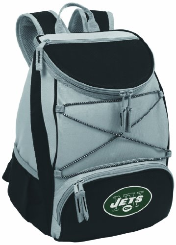 NFL New York Jets PTX Insulated Backpack Cooler, Black at Amazon.com