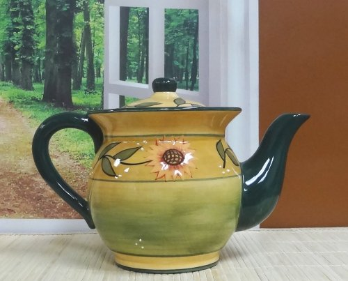 Country Sunflower Teapot (Country Teapot compare prices)