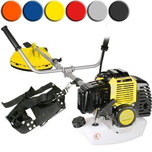 Timbertech® MS52-2TL-yellow Petrol Brush Cutter Grass Strimmer 52 ccm 3PS (Yellow)