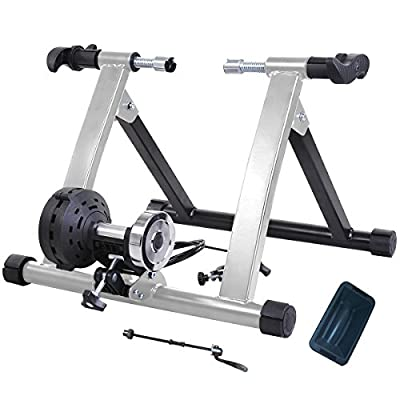 Heavy Steel Indoor Magnetic Bike Bicycle Trainer Stand w/ 8 Resistance Levels, Multi Colors