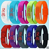 #2: SHOP ONLINE Thin LED Watch Unisex Digital Sports Watch For Men Women Kids(multi color)