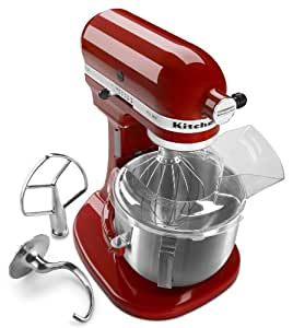 KitchenAid KSM500PSER Professional 500 5-Quart Bowl-Lift Stand Mixer, Empire Red