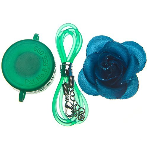 Capstyle Bottle Cap Necklace, Magnet and Jewelry for Decoration - Green Capstyle and Blue Flower Starter Set Elegance I