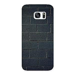 Black Wall Multicolor Grain Back Case Cover for Galaxy S7 Edge