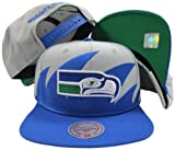 Seattle Seahawks Mitchell &amp; Ness Snapback Adjustable Plastic Snap Back Hat / Cap at Amazon.com