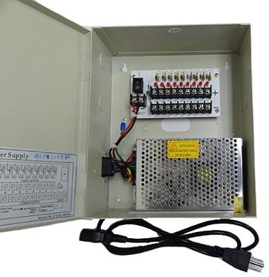 CIB 16CH Output 12 V DC CCTV Distributed Power Supply Box for Security Camera...