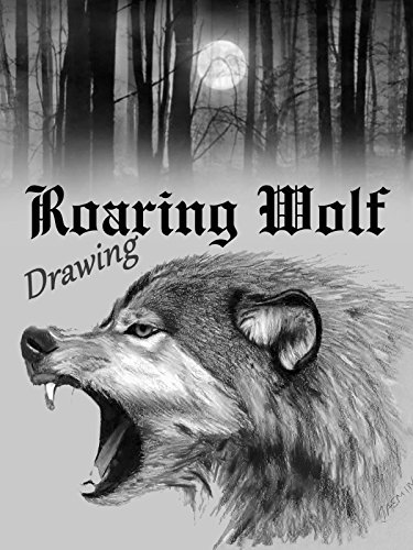 Time Lapse Drawing of a Roaring Wolf on Amazon Prime Video UK