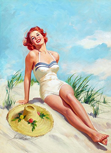 pin-up-girl-wall-decal-poster-sticker-girl-on-beach-red-hair-redhead-pinup-decal-stickers-and-mural-