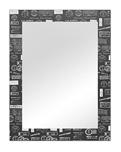 The Attic Monty Mirror Frame (Glossy Finish, Brown)