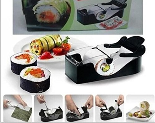 Drhob Plastic Sushi Roller/ Vegetable meat rolls Machine/ Kitchen Grape/Cabbage Leaf Rolling Tool/ DIY Roll Maker (Color:black) (Machine Grape compare prices)