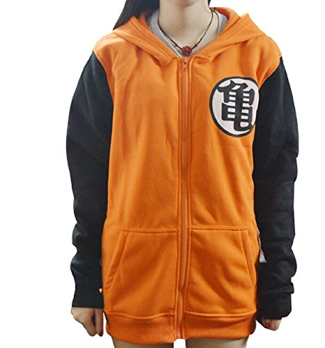 Mxnpolar Dragon Ball Z Kame Symbol Orange Long Sleeves Hoodie Cosplay Costume XXL