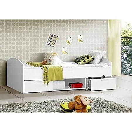 LUPO cama infantil con cajones 90 x 200 cm, color blanco