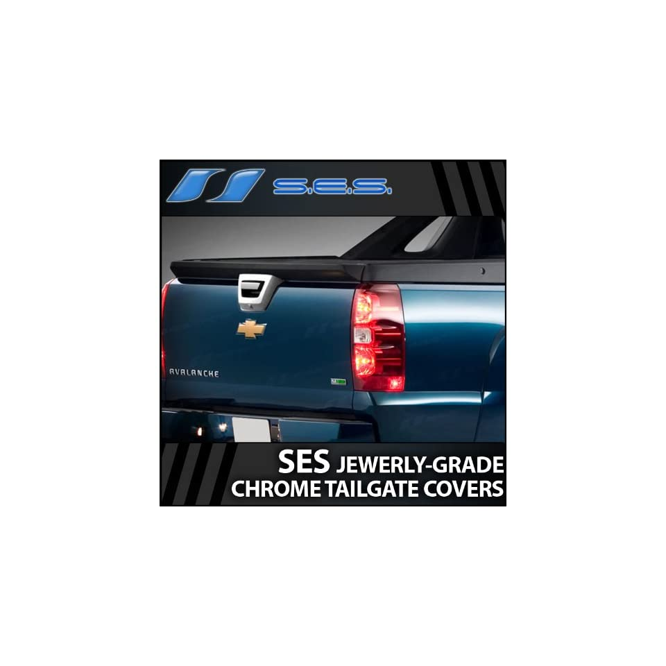 2007 2013 Chevy Avalanche Chrome Tailgate Cover (No Camara Cutout)