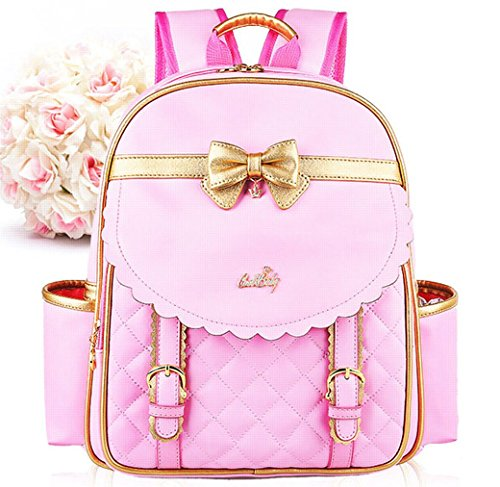 euro-sky-children-school-backpack-bags-for-girls-students-pu-leather-pink-large