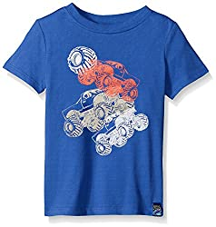 Charlie Rocket Toddler Boys Short Sleeve Graphic Tee, Sky, 3T