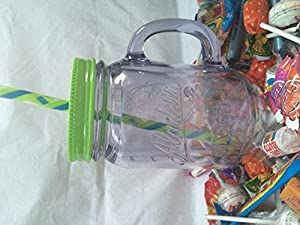 Aladdin Green Classic Insulated Mason Tumbler (591ml) with Straws and Full of Retro Sweets