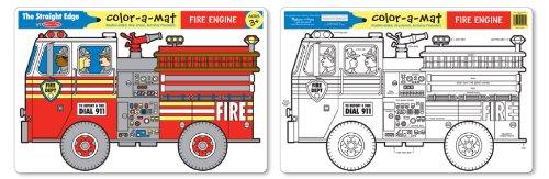 Melissa & Doug Color-A-Mat Fire Engine - 1
