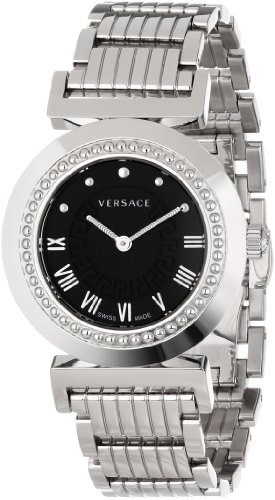 Versace Women's P5Q99D009 S099 Vanitas Stainless Steel Black Sunray Dial Watch