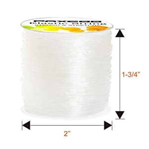 Paxcoo 1mm Elastic Bracelet String Cord Stretch Bead Cord for Jewelry Making and Bracelet Making (Tamaño: 1 mm)